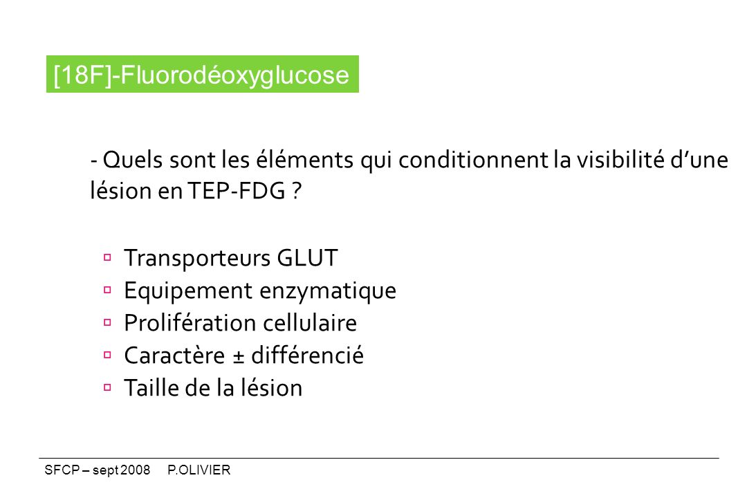 [18F]-Fluorodéoxyglucose